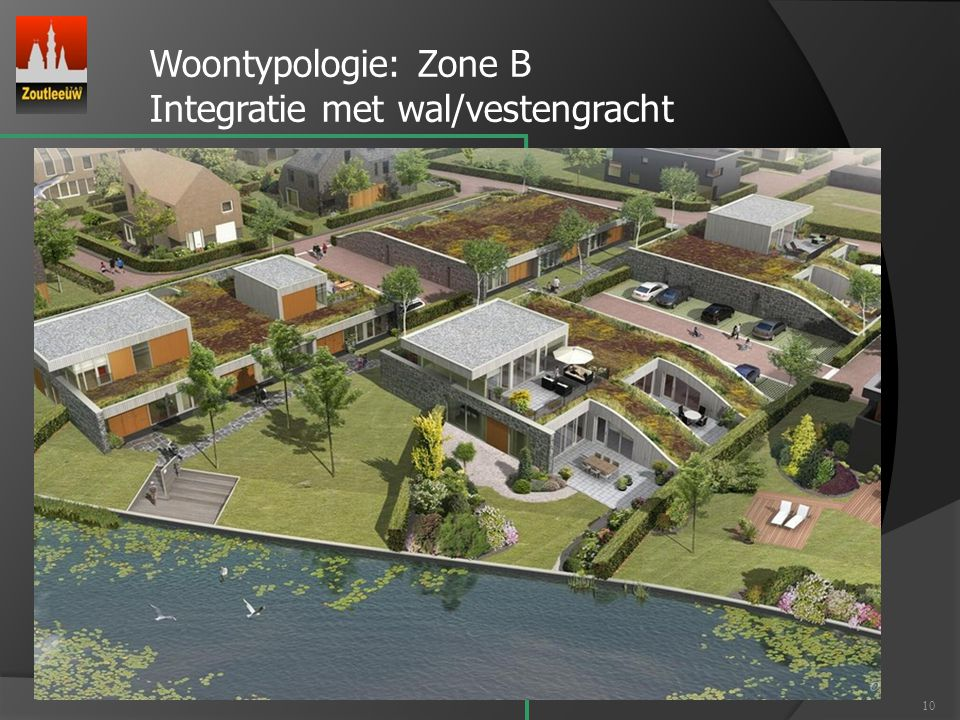 Woontypologie: Zone B Integratie met wal/vestengracht