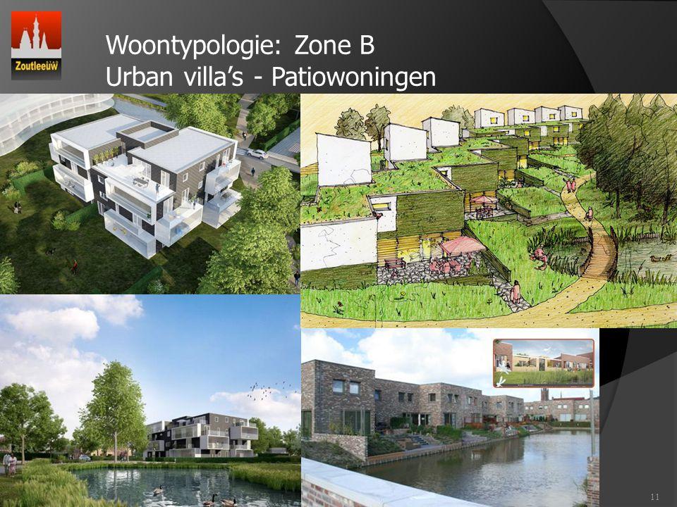 Woontypologie: Zone B Urban villa's - Patiowoningen