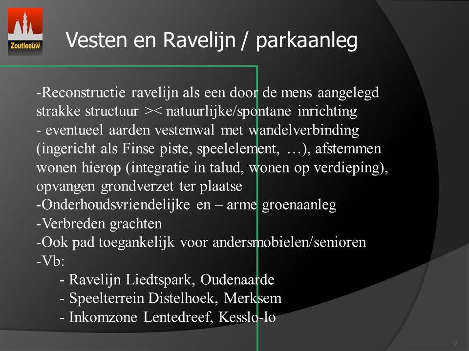 Vesten en Ravelijn / parkaanleg