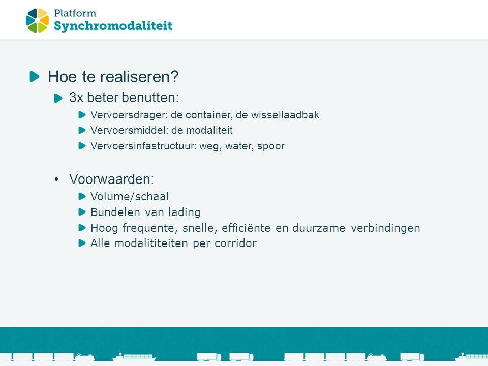 Synchromodaal transport ppt video online download - Corridor ontwikkeling ...