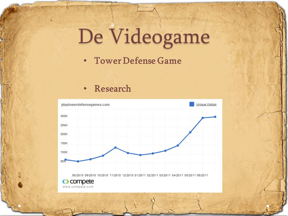De Videogame Tower Defense Game Research