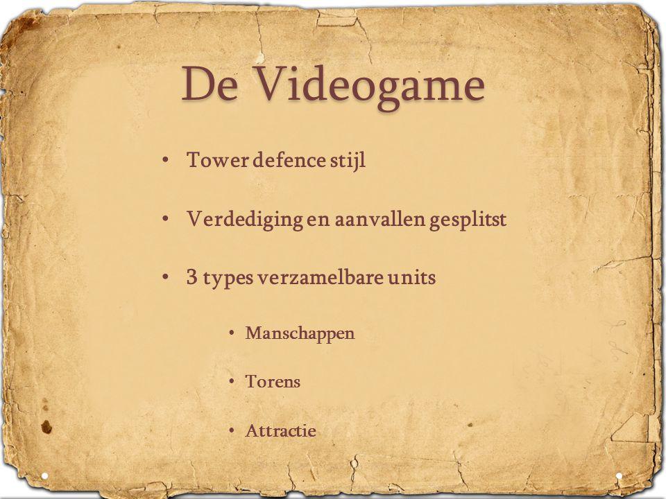 De Videogame Tower defence stijl Verdediging en aanvallen gesplitst