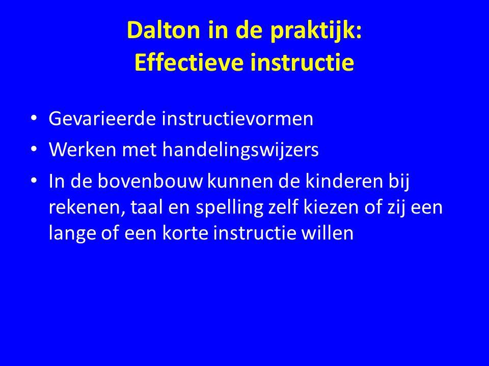 Dalton in de praktijk: Effectieve instructie