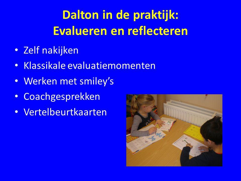 Dalton in de praktijk: Evalueren en reflecteren