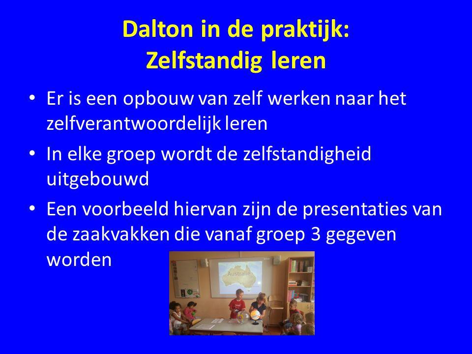 Dalton in de praktijk: Zelfstandig leren