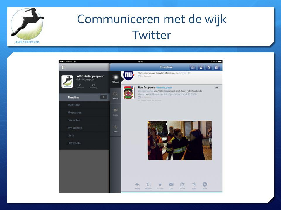 Communiceren met de wijk Twitter