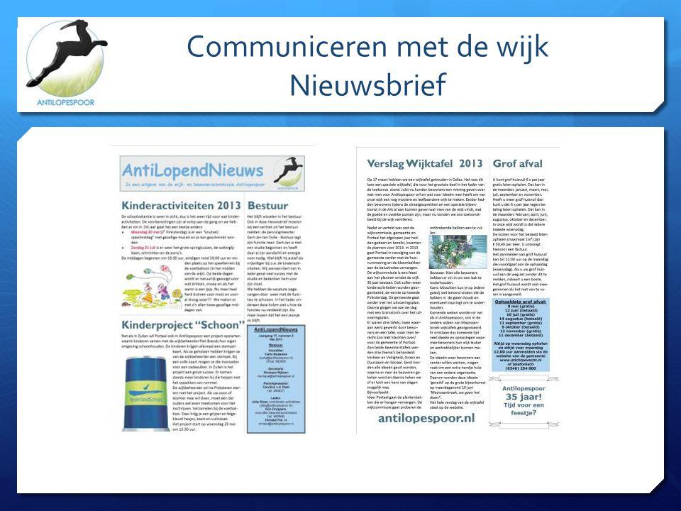 Communiceren met de wijk Nieuwsbrief