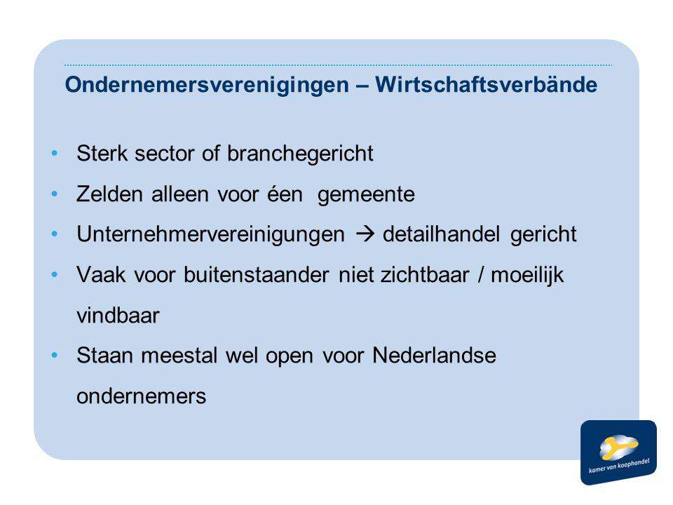 Ondernemersverenigingen – Wirtschaftsverbände