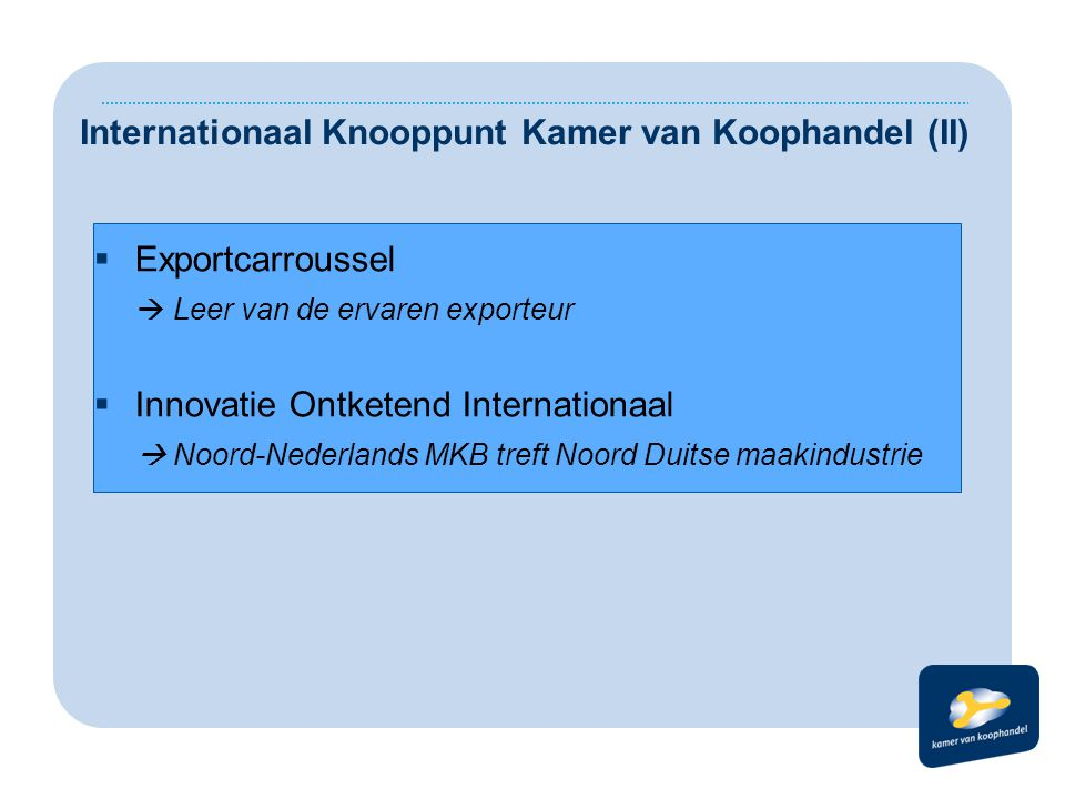 Internationaal Knooppunt Kamer van Koophandel (II)