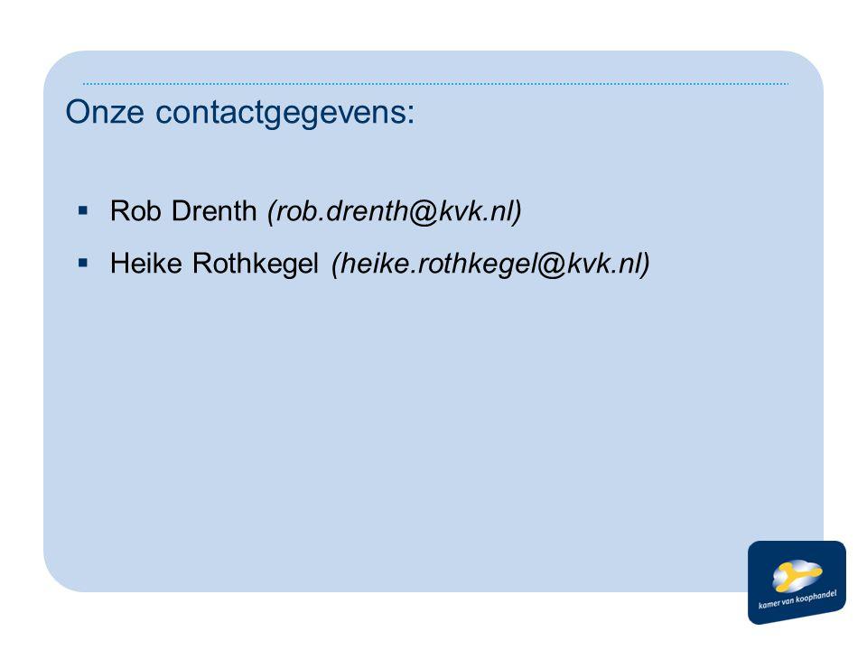 Onze contactgegevens: