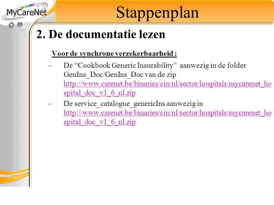 Stappenplan 2. De documentatie lezen
