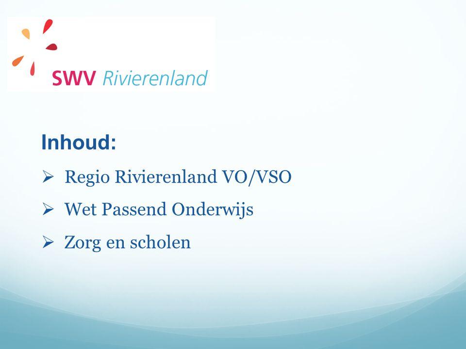 Inhoud: Regio Rivierenland VO/VSO Wet Passend Onderwijs