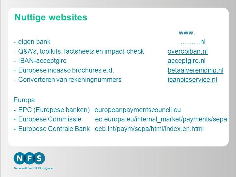 Nuttige websites www. eigen bank ………nl