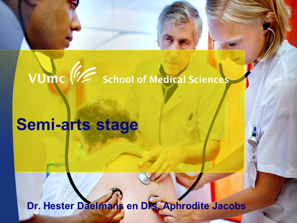 Welkom in VUmc Dr. Hester Daelmans en Drs. Aphrodite Jacobs