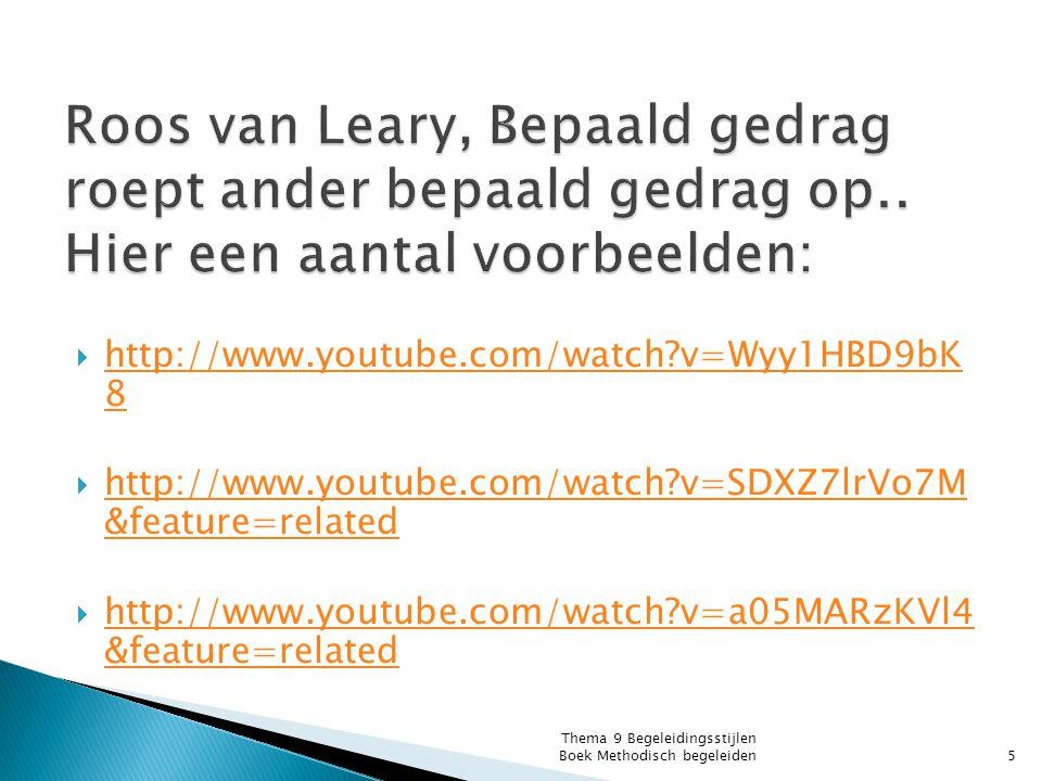 Roos van Leary, Bepaald gedrag roept ander bepaald gedrag op
