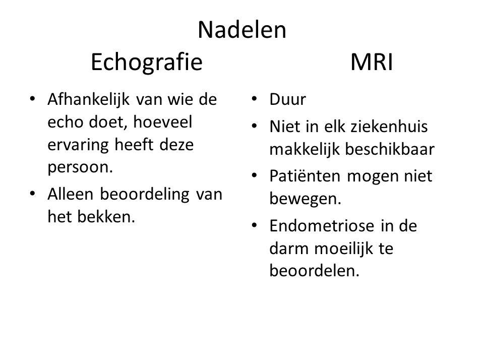 Nadelen Echografie MRI
