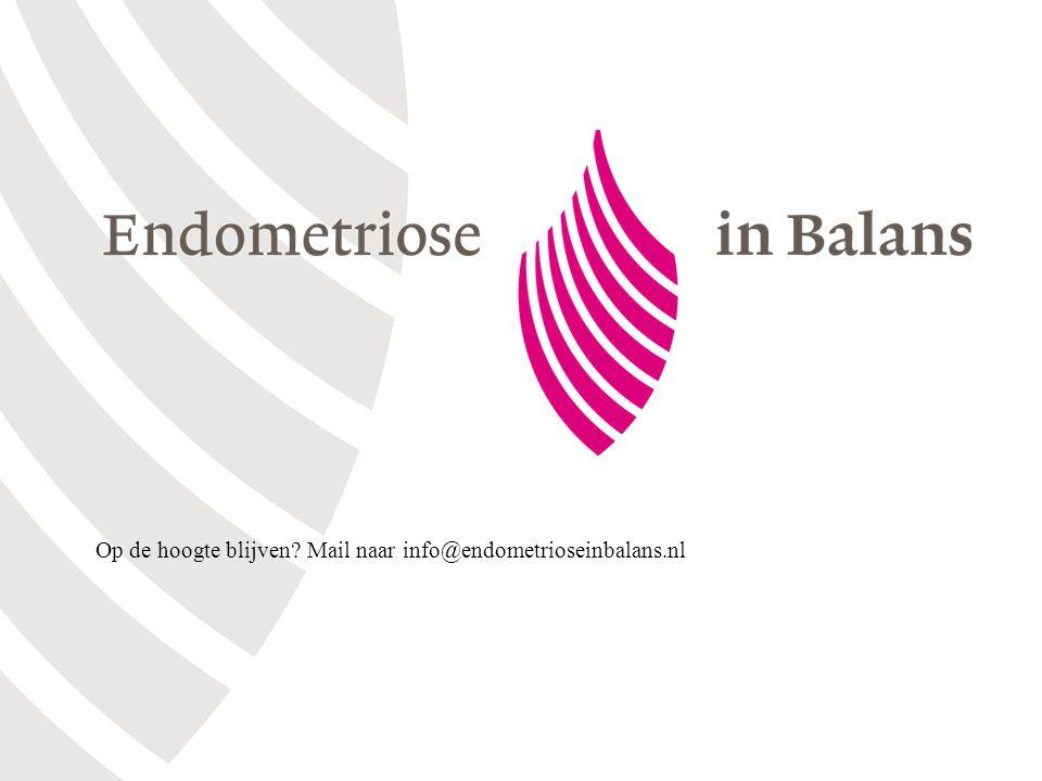 Op de hoogte blijven Mail naar info@endometrioseinbalans.nl