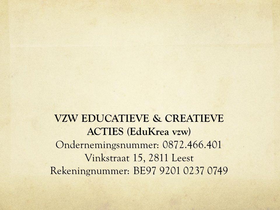 VZW EDUCATIEVE & CREATIEVE ACTIES (EduKrea vzw)