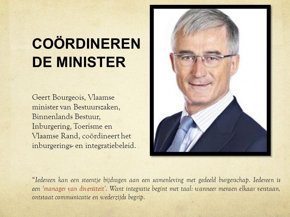 COÖRDINERENDE MINISTER