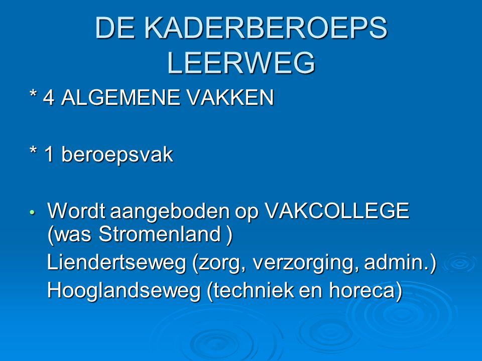 DE KADERBEROEPS LEERWEG