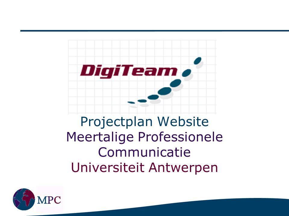 Indeling Presentatie Aanleiding Doel & Kern Project Aanpak