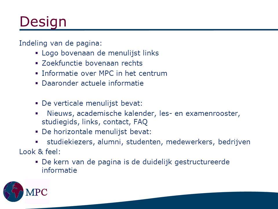 Ons design onderstreept de professionaliteit van MPC: