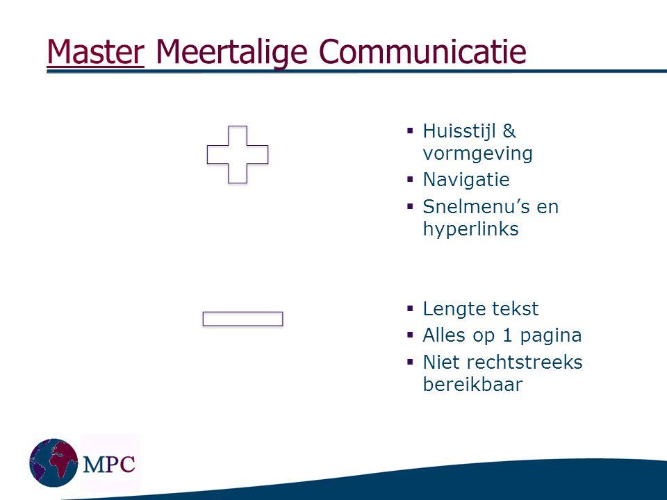 Master Meertalige Communicatie Lessius