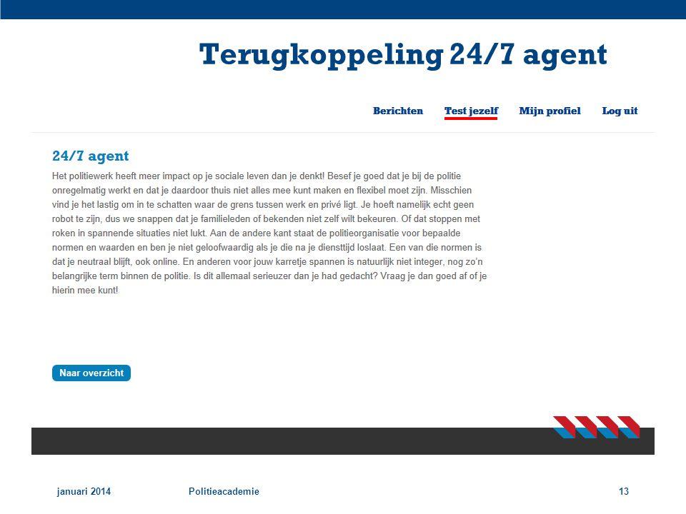 Terugkoppeling 24/7 agent