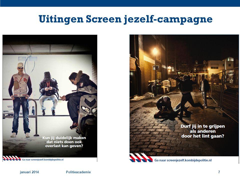 Uitingen Screen jezelf-campagne