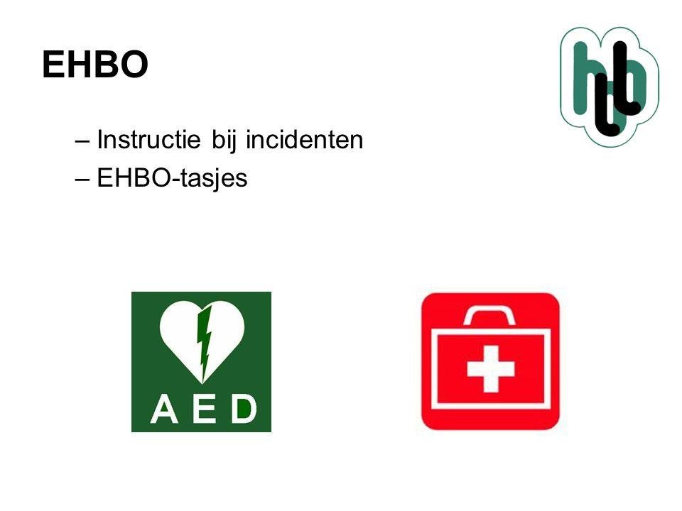 EHBO Instructie bij incidenten EHBO-tasjes