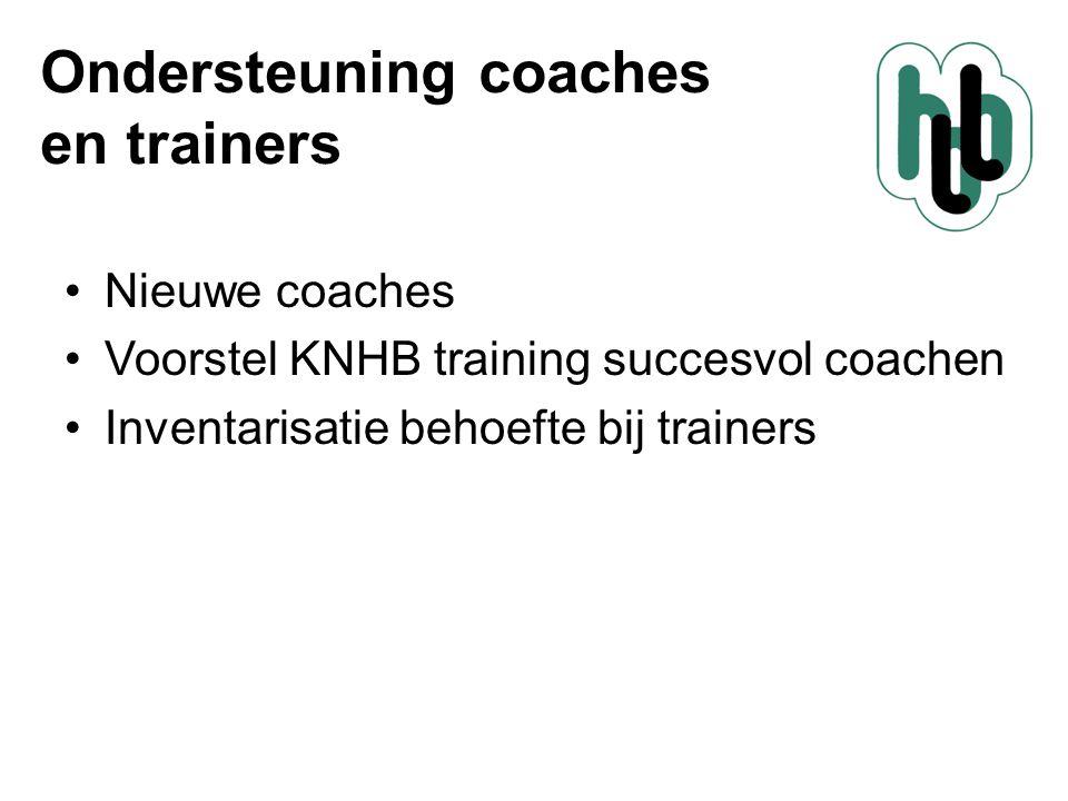Ondersteuning coaches en trainers