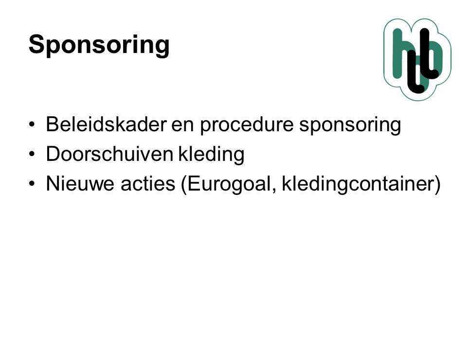 Sponsoring Beleidskader en procedure sponsoring Doorschuiven kleding