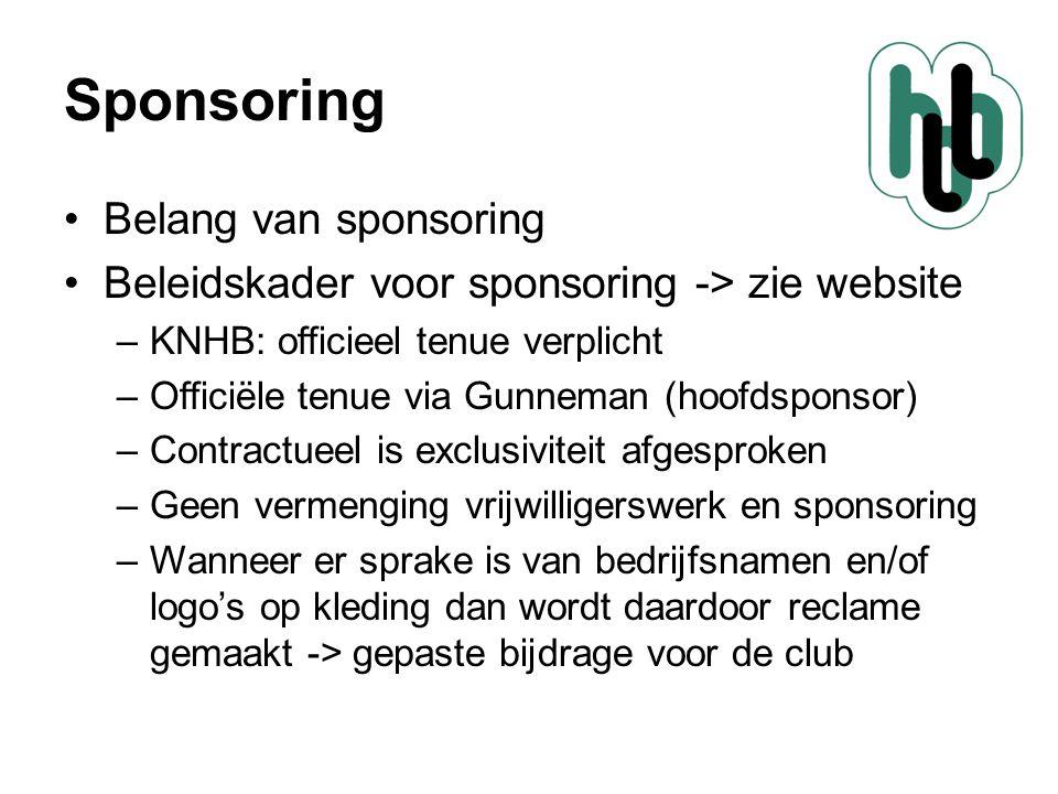 Sponsoring Belang van sponsoring