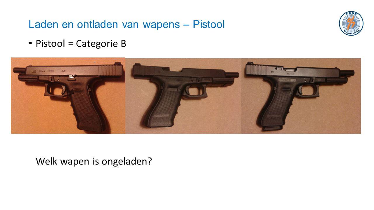Laden en ontladen van wapens – Pistool