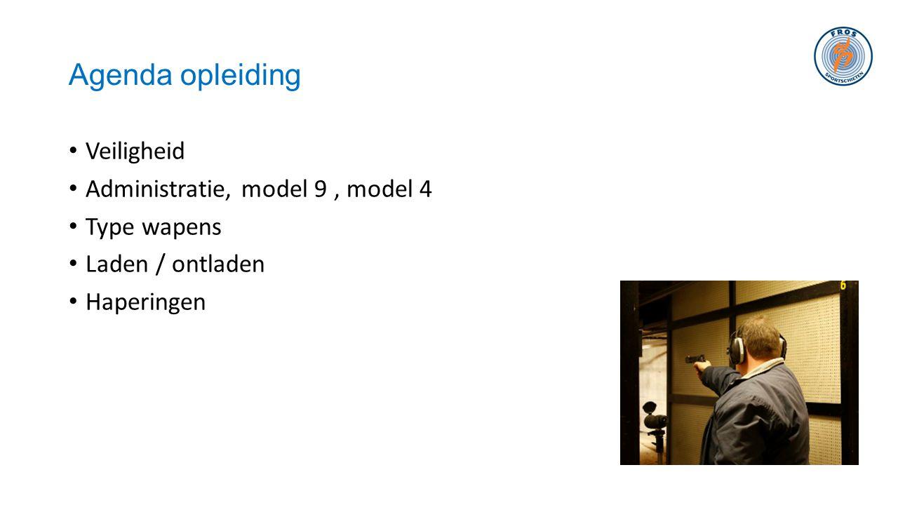 Agenda opleiding Veiligheid Administratie, model 9 , model 4