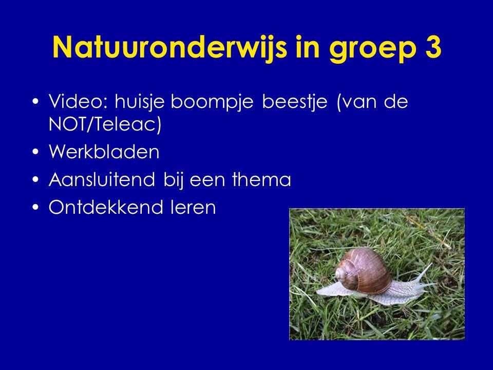 Natuuronderwijs in groep 3
