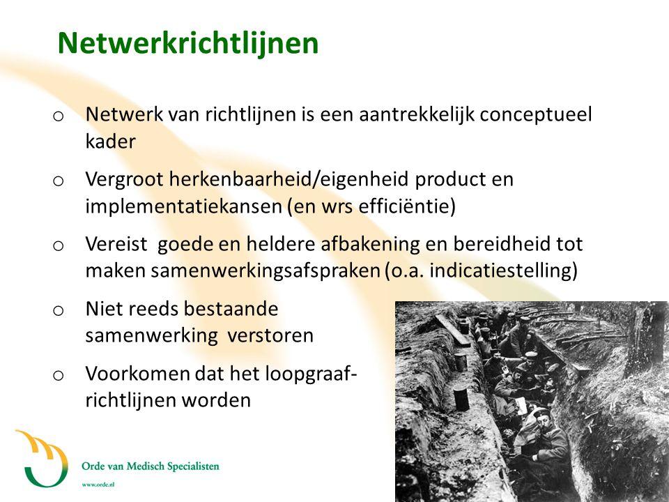 Netwerkrichtlijnen Netwerk van richtlijnen is een aantrekkelijk conceptueel kader.