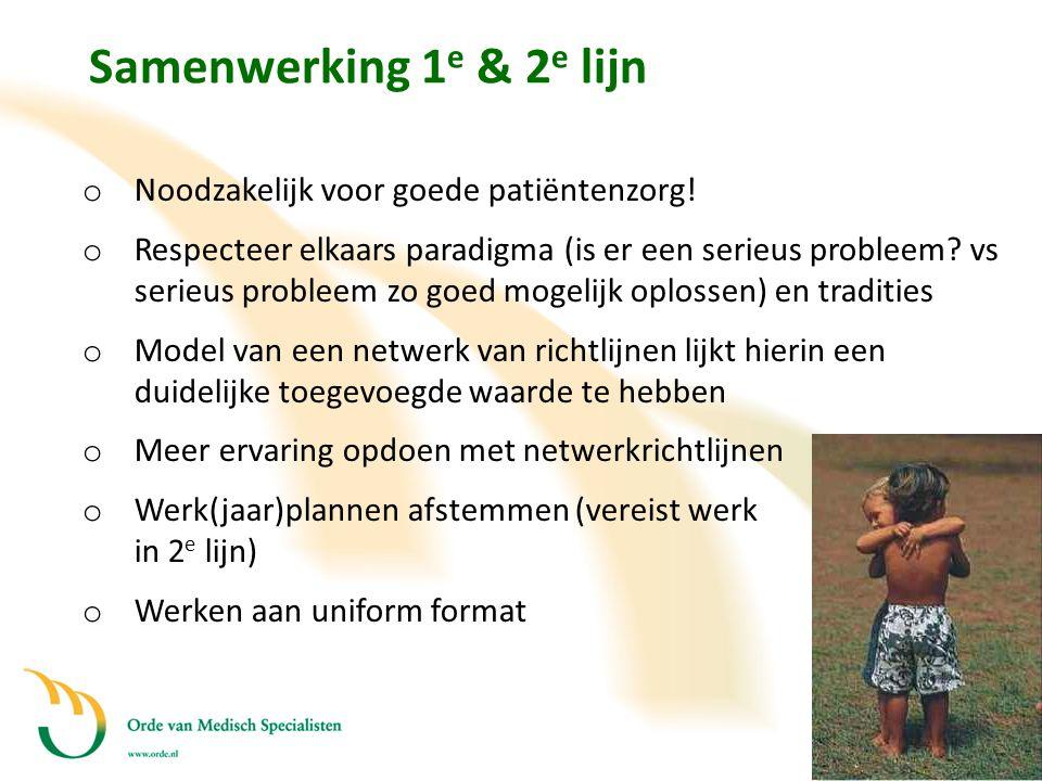 Samenwerking 1e & 2e lijn Noodzakelijk voor goede patiëntenzorg!