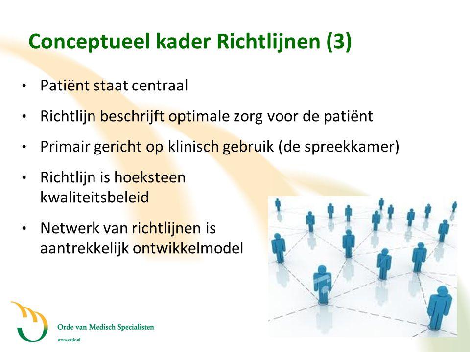 Conceptueel kader Richtlijnen (3)
