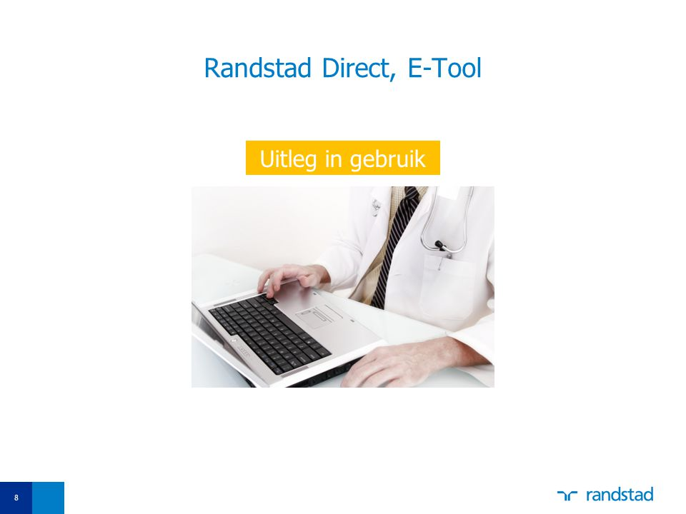 Randstad Direct, E-Tool