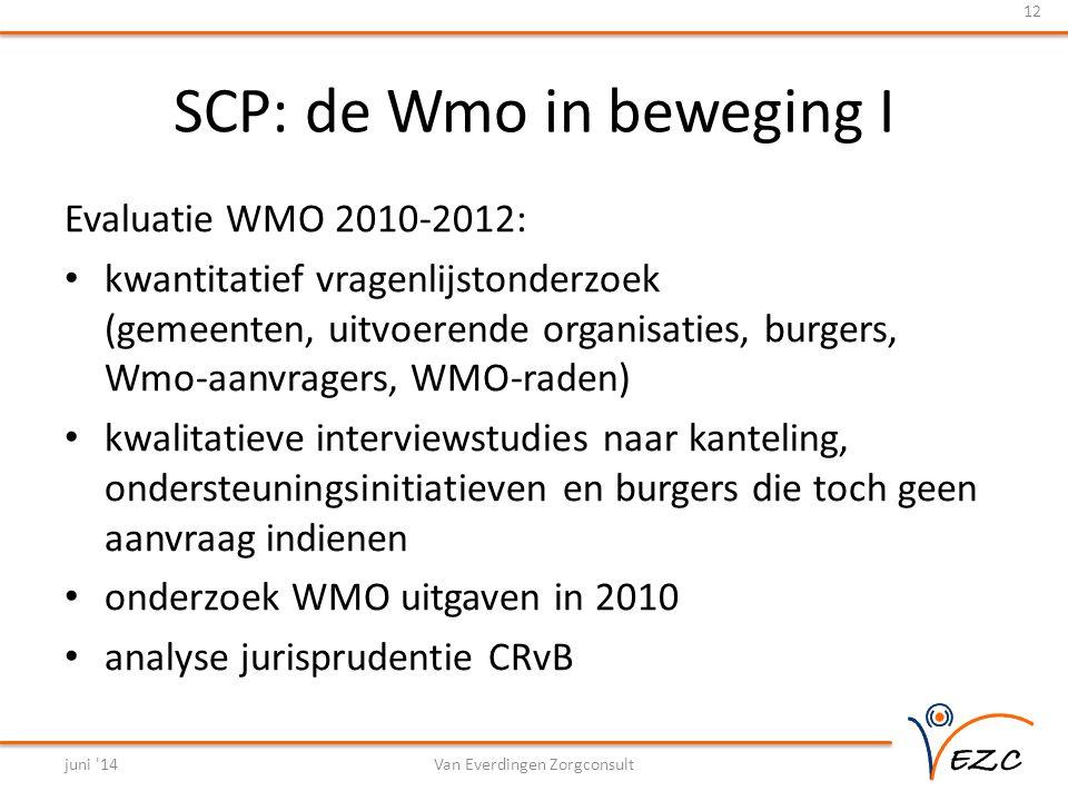SCP: de Wmo in beweging I