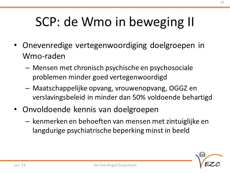 SCP: de Wmo in beweging II