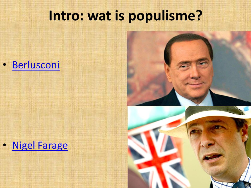 Intro: wat is populisme
