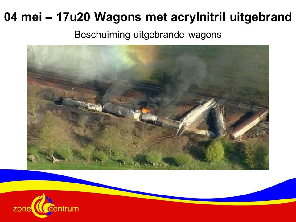 04 mei – 17u20 Wagons met acrylnitril uitgebrand
