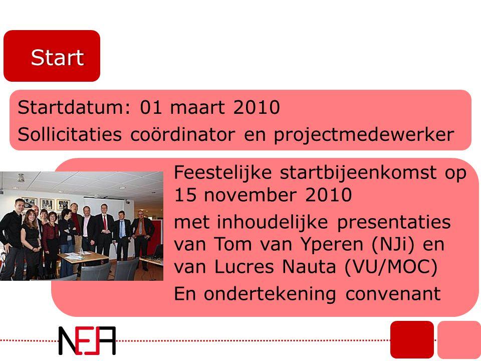 Start Startdatum: 01 maart 2010