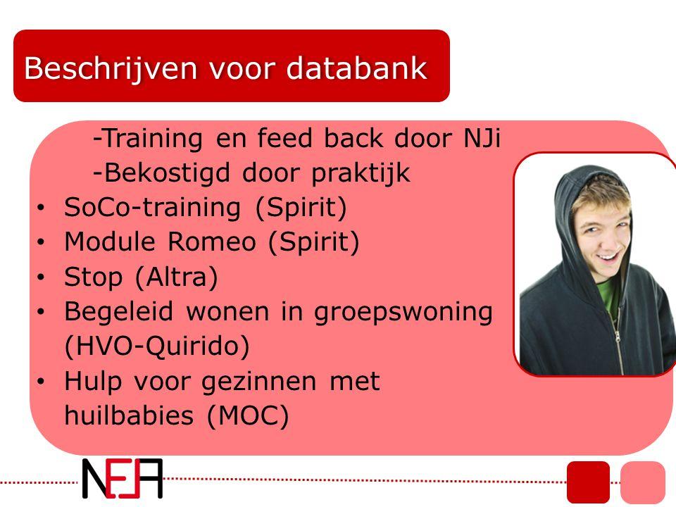 Beschrijven voor databank