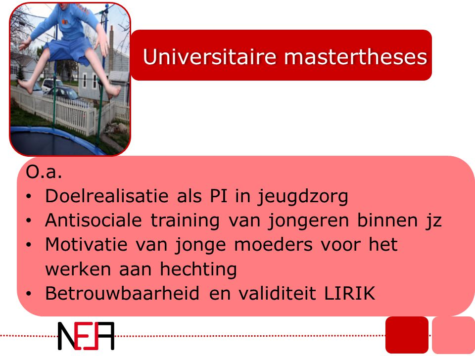 Universitaire mastertheses