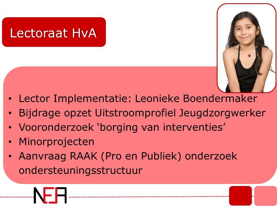 Lectoraat HvA Lector Implementatie: Leonieke Boendermaker