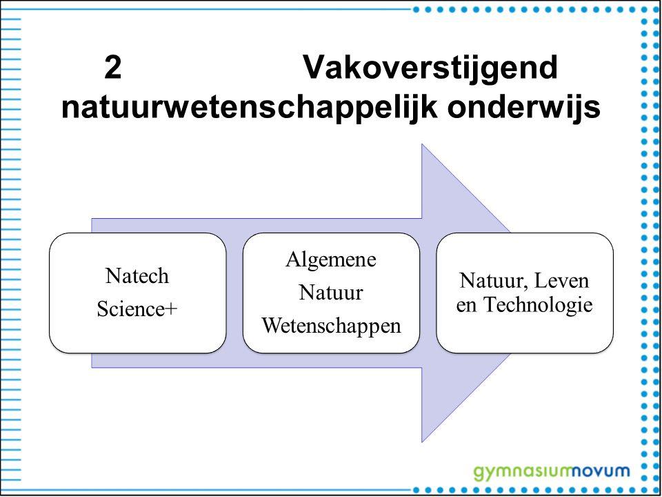 2 Vakoverstijgend natuurwetenschappelijk onderwijs