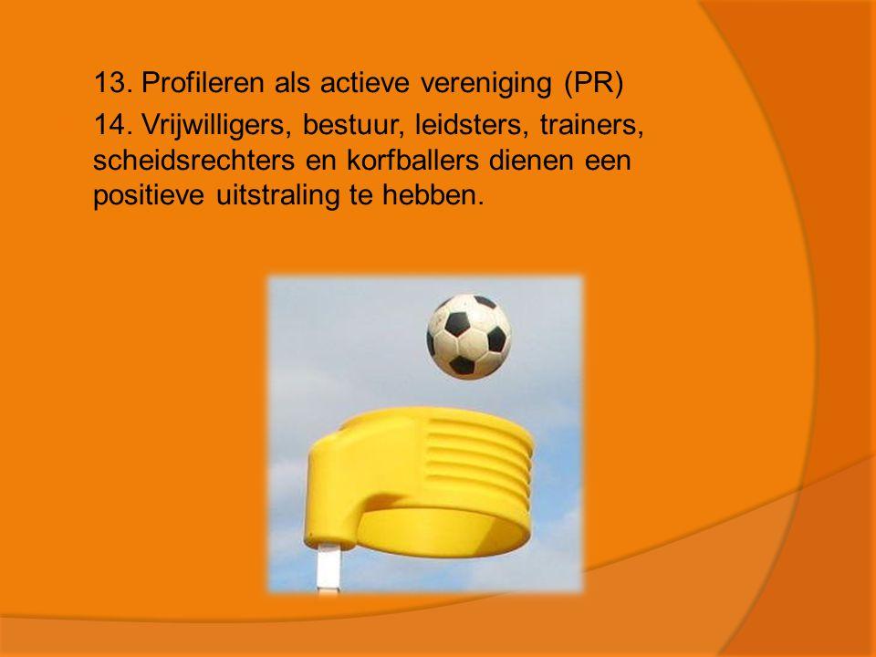 13. Profileren als actieve vereniging (PR)